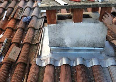 Refection abergement de cheminee en zinc 2
